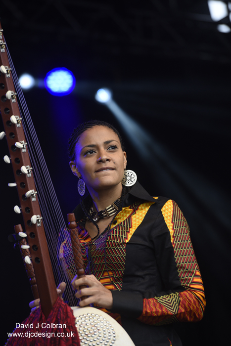 Kora player Sona at UK Africa Oye festival photography