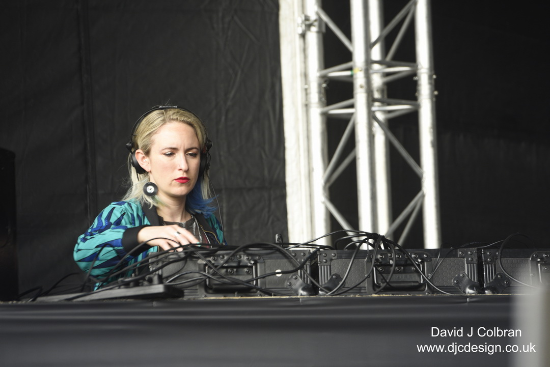 DJ Emily Dust from Radio 1xtra at Africa Oye festival 2019