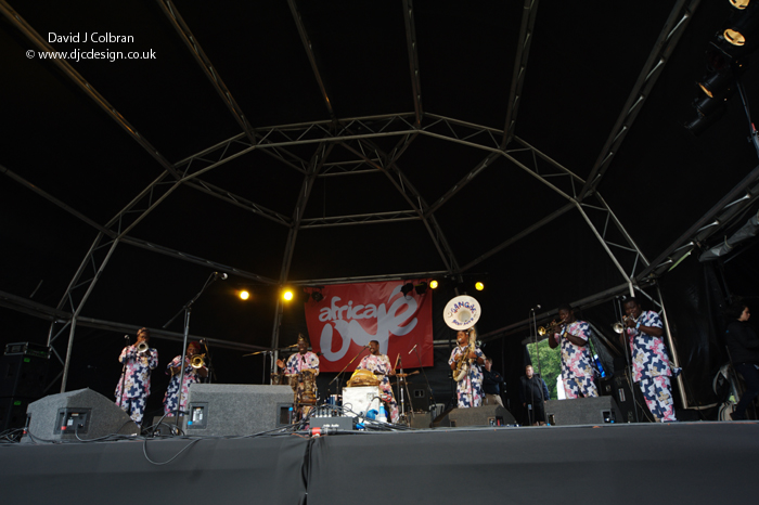 Gangbe Brass Band at Africa Oye 2011 Liverpool