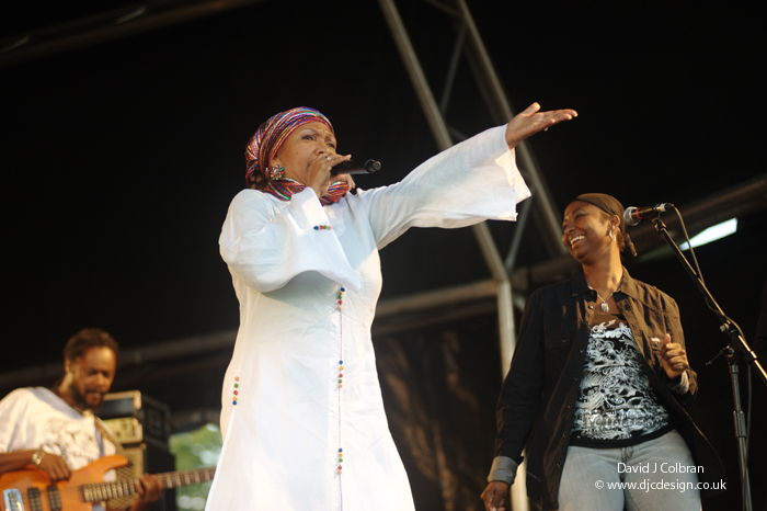 Marcia Griffiths at Africa Oye music festival
