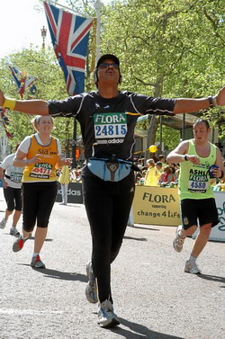 Event photographer at London Marathon