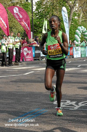 Mary Keitany winner of London Marathon 2011