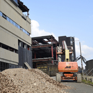 Photographs of the demolition of for