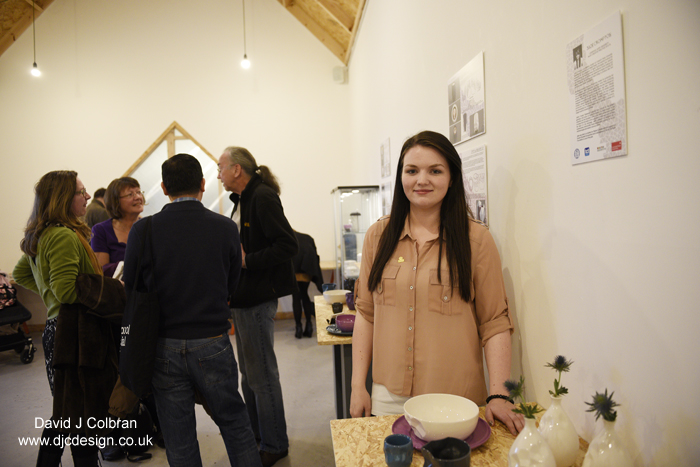 Photography people portrait in Liverpool - Jade at her exhibition