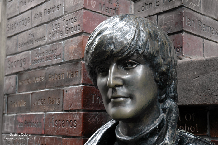 John Lennon statue Wall of Fame in Liverpool photo