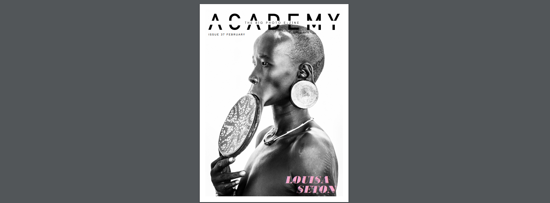 Academy photography magazine front cover