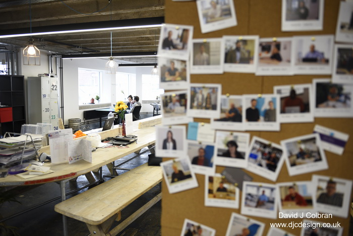 Lifestyle workspace shared desks photograph