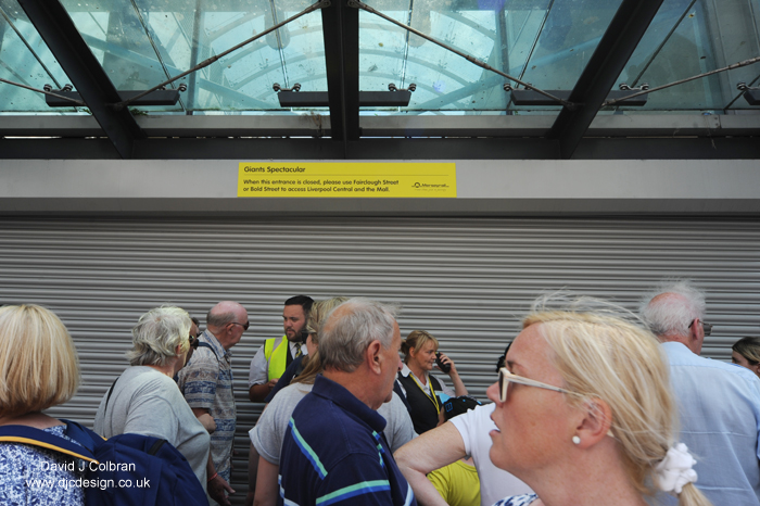 Crowd transport delays Merseytravel Giants Liverpool