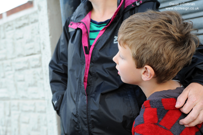 Children watch the parade of Giants in Liverpool 2014