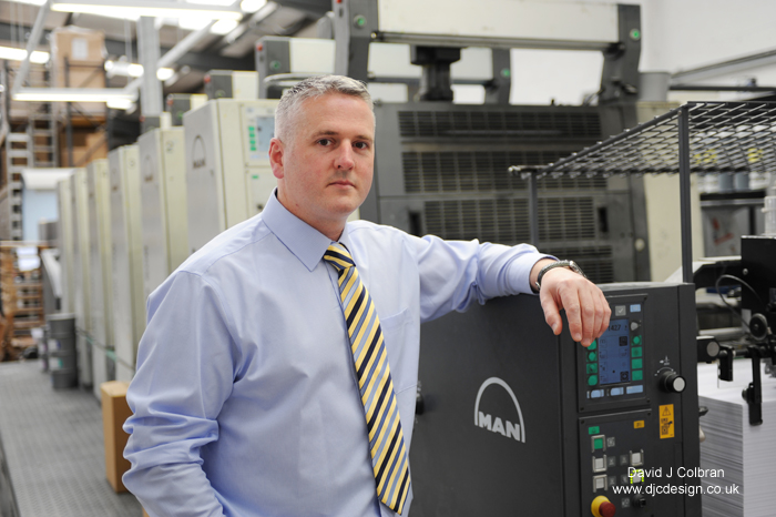 Business portrait for print industry trade magazine by Liverpool based photographer David J Colbran