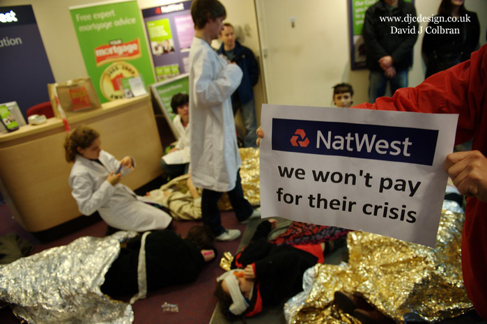 UK Uncut activists Liverpool Natwest