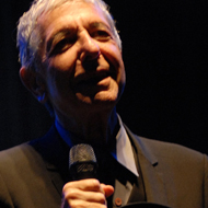 File picture, pix of Leonard Cohen f