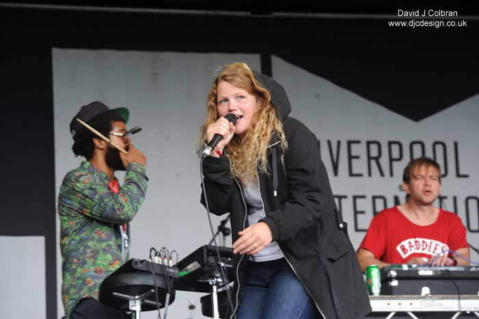 Kate Tempest performs in Liverpool 2014 LIMF photograph