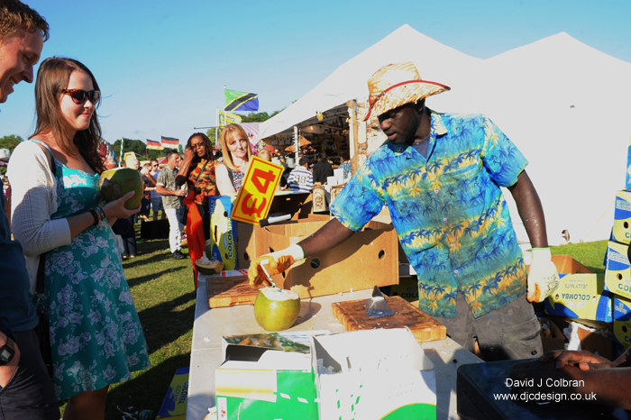 Coconut man world music festival photography