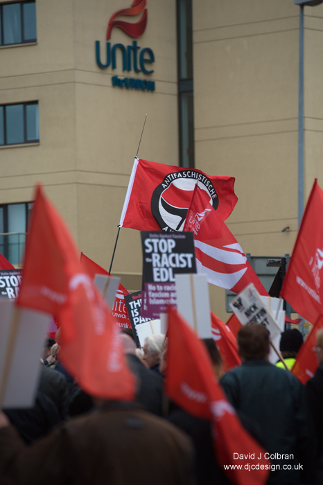 Antifa march in Liverpool England
