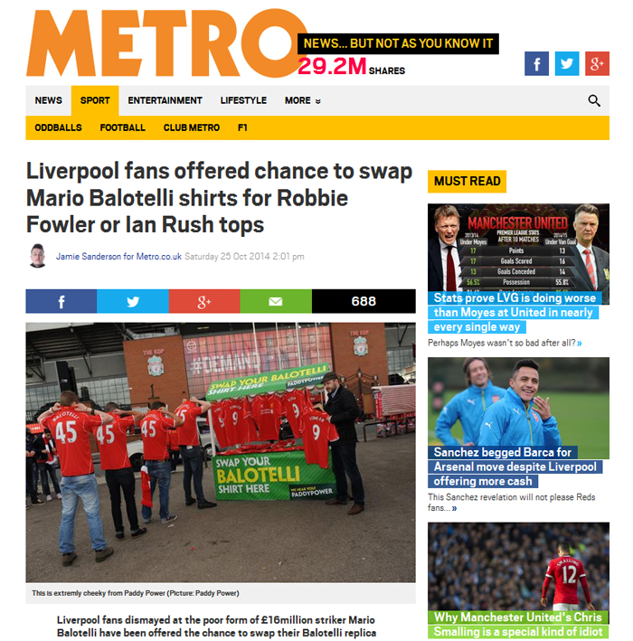 Metro newspaper coverage by Liverpool photographers