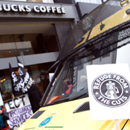 Protest groups target Starbucks Live