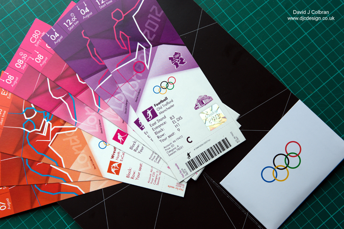 Olympic ticket image for licence stock