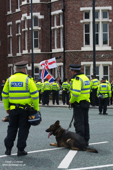 Far right Liverpool editorial use photograph