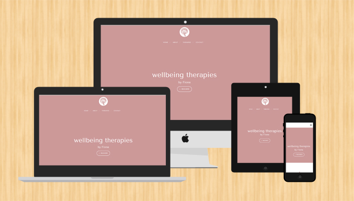 Flat responsive website designed for Liverpool client - infographic