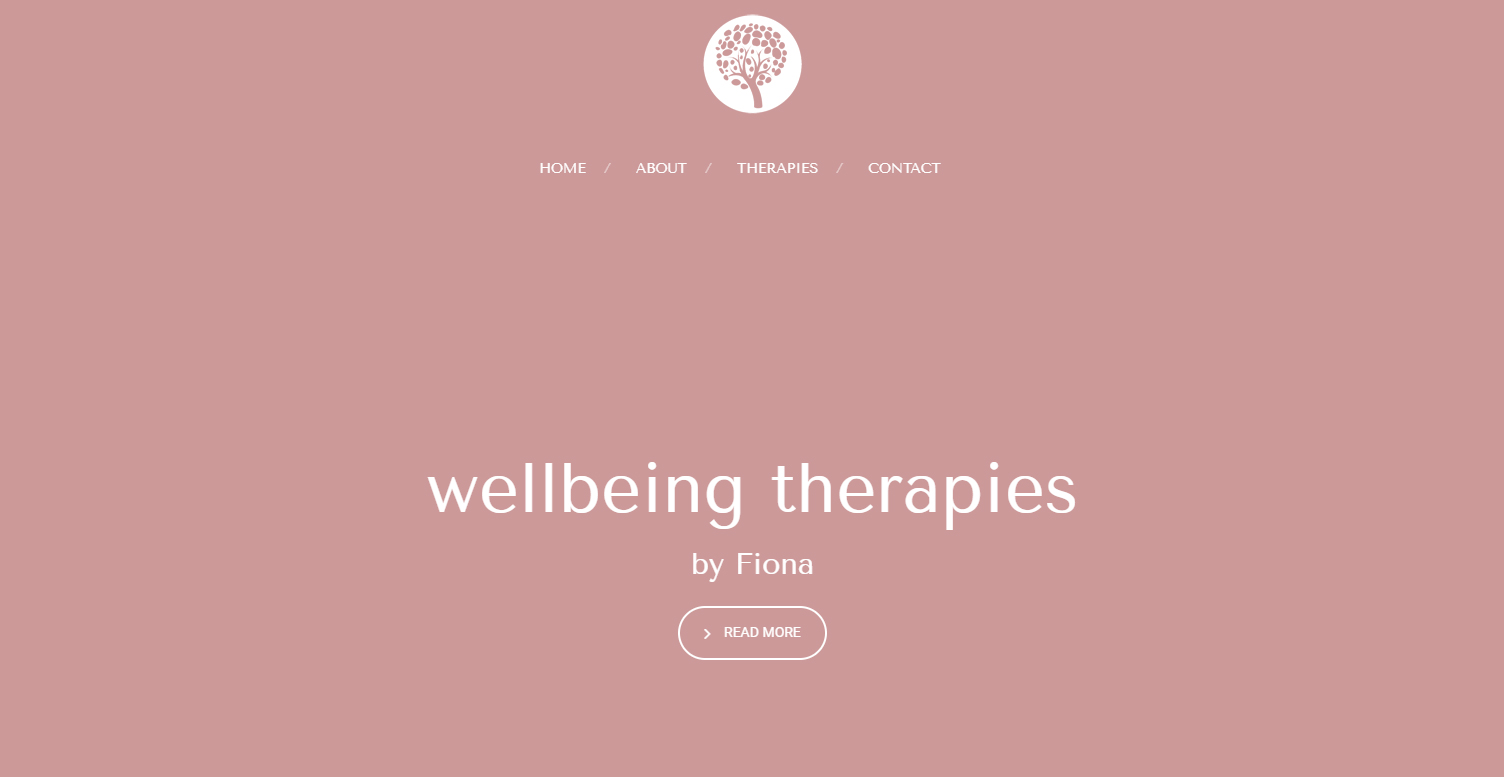 Qualified therapist based in Liverpool web design and logo