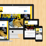 Responsive web design by Liverpool web designer DJC Design for Irish event website