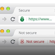 An easy and affordable solution to securing your website with a green padlock and https with a SSL certificate. Get in touch for a quote.
