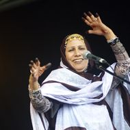 File photographs of Mariem Hassan performing at Africa Oye in Liverpool, back in 2011