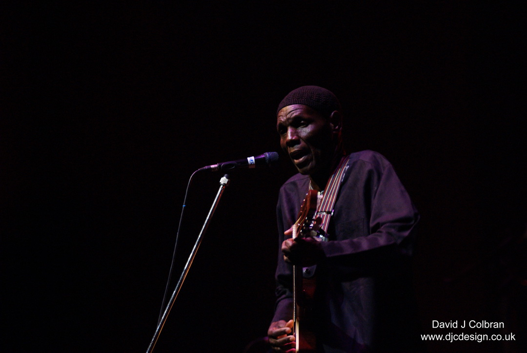 Oliver Mtukudzi performs in Liverpool